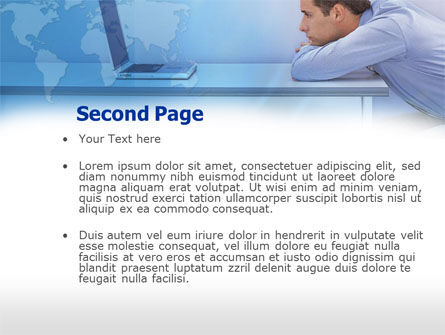 Computer And Man PowerPoint Template, Slide 2, 00435, Global — PoweredTemplate.com