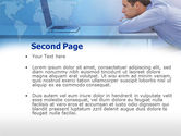 Computer And Man PowerPoint Template#2
