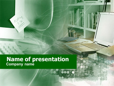 Computers PowerPoint Template, 00437, Technology and Science — PoweredTemplate.com