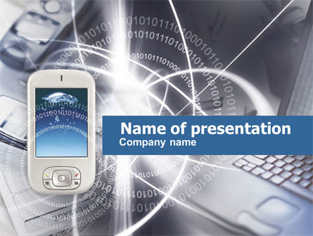 Mobile Computers PowerPoint Template, 00438, Technology and Science — PoweredTemplate.com