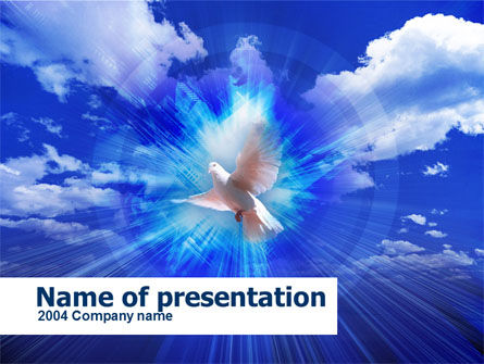 Dove In The Sky PowerPoint Template, 00439, Religious/Spiritual — PoweredTemplate.com