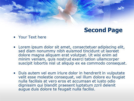 Dove In The Sky PowerPoint Template, Slide 2, 00439, Religious/Spiritual — PoweredTemplate.com