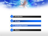 Dove In The Sky PowerPoint Template#3