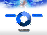 Dove In The Sky PowerPoint Template#9
