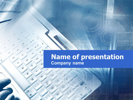 Technology and Science: Keyboard PowerPoint Template #00441