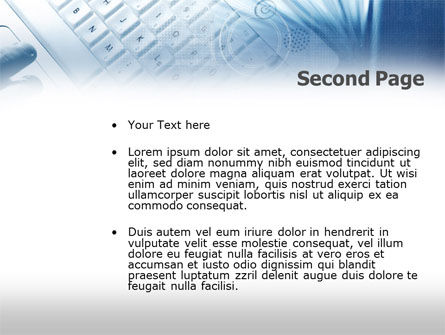 Keyboard PowerPoint Template, Slide 2, 00441, Technology and Science — PoweredTemplate.com