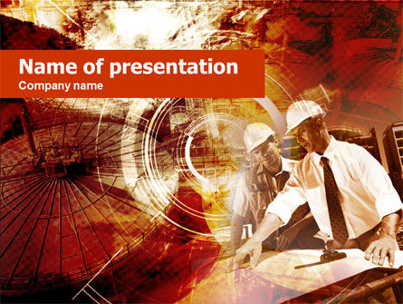 Utilities/Industrial: Meeting Builders' In Bruine Tinten PowerPoint Template #00442