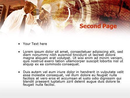 Builders' Meeting In Brown Colors PowerPoint Template, Slide 2, 00442, Utilities/Industrial — PoweredTemplate.com