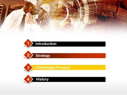 Builders' Meeting In Brown Colors PowerPoint Template, Slide 3, 00442, Utilities/Industrial — PoweredTemplate.com