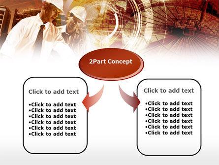 Builders' Meeting In Brown Colors PowerPoint Template, Slide 4, 00442, Utilities/Industrial — PoweredTemplate.com