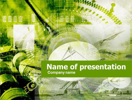 Telecommunication: 卫星天线PowerPoint模板 #00443