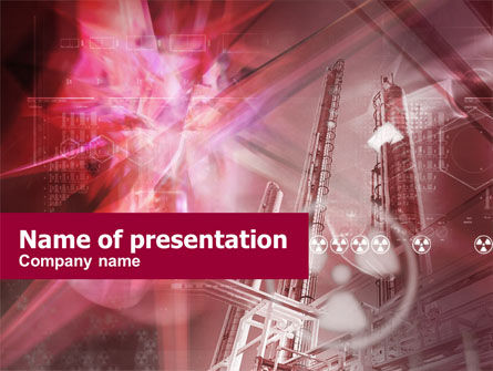 Nuclear Energy Free PowerPoint Template, 00444, Utilities/Industrial — PoweredTemplate.com