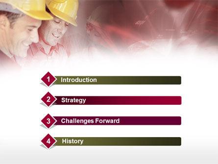 Builders' Meeting In Crimson Colors PowerPoint Template, Slide 3, 00446, Utilities/Industrial — PoweredTemplate.com
