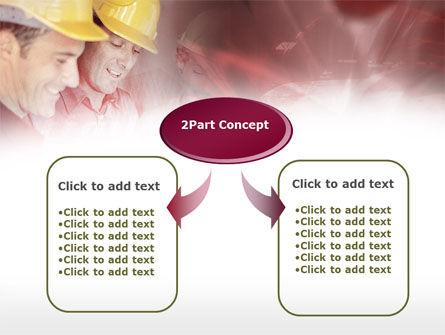 Builders' Meeting In Crimson Colors PowerPoint Template, Slide 4, 00446, Utilities/Industrial — PoweredTemplate.com