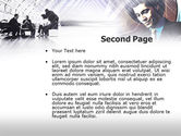 Business Meeting In A Hall PowerPoint Template#2