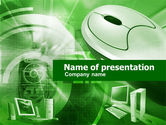 Technology and Science: Computer Parts PowerPoint Template #00449