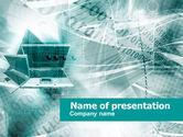 Telecommunication: Notebook Computer PowerPoint Template #00450