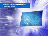 Telecommunication: Computer Monitor PowerPoint Template #00451