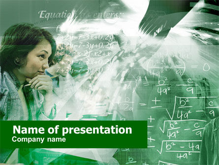 Mathematical Formulas PowerPoint Template
