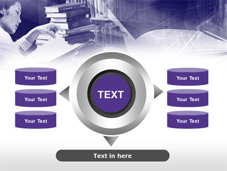 Library in Violet PowerPoint Template Slide 12