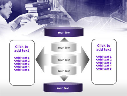 Library in Violet PowerPoint Template Slide 13
