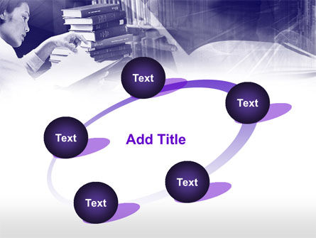 Library in Violet PowerPoint Template Slide 14