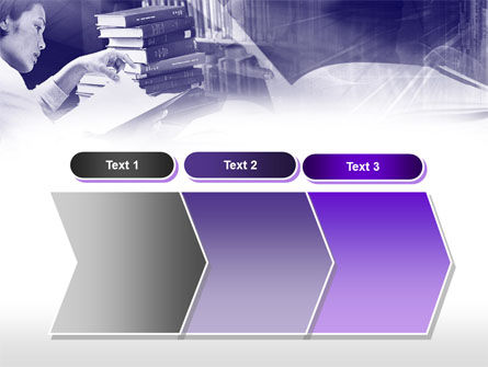 Library in Violet PowerPoint Template Slide 16