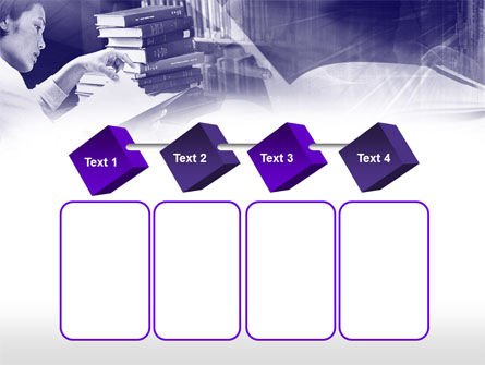 Library in Violet PowerPoint Template Slide 18