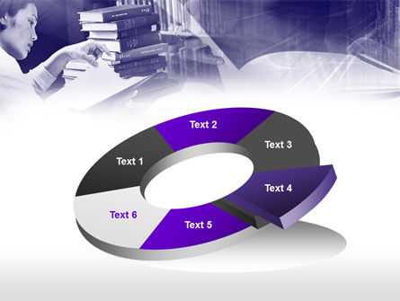 Library in Violet PowerPoint Template Slide 19