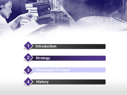 Library in Violet PowerPoint Template, Slide 3, 00453, Education & Training — PoweredTemplate.com