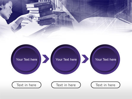 Library in Violet PowerPoint Template Slide 5