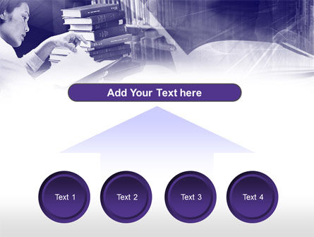 Library in Violet PowerPoint Template Slide 8