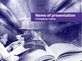 Education & Training: Plantilla de PowerPoint - biblioteca en violeta #00453