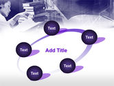 Library in Violet PowerPoint Template#14
