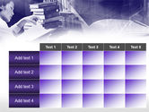 Library in Violet PowerPoint Template#15