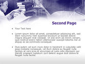 Library in Violet PowerPoint Template#2