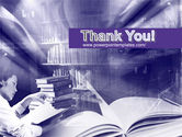 Library in Violet PowerPoint Template#20