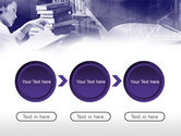Library in Violet PowerPoint Template#5