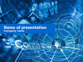 Telecommunication: Communication Via E-mail PowerPoint Template #00455
