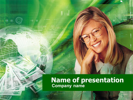 Financial/Accounting: Cash Flow PowerPoint Template #00457
