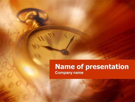 Business: Watching Time PowerPoint Template #00461
