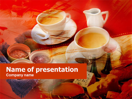 Cup Of Coffee PowerPoint Template, 00465, Food & Beverage — PoweredTemplate.com