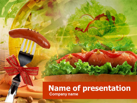 Hot-Dog Powerpoint Template, Backgrounds | 00466 | Poweredtemplate.Com