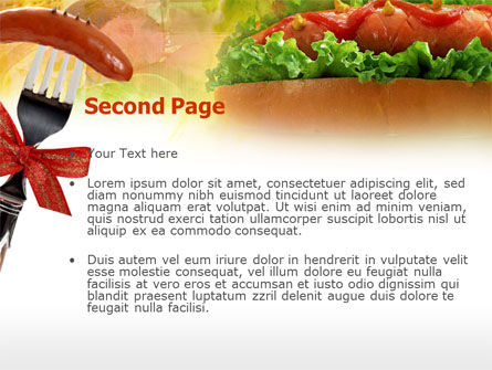 Hot-Dog PowerPoint Template, Slide 2, 00466, Food & Beverage — PoweredTemplate.com