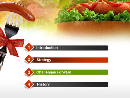 Hot-Dog PowerPoint Template, Slide 3, 00466, Food & Beverage — PoweredTemplate.com