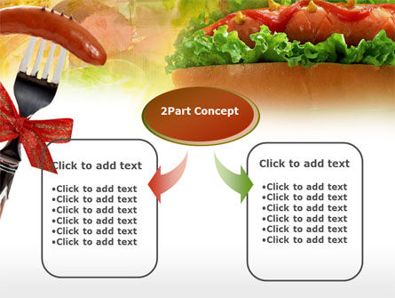 Hot-Dog PowerPoint Template, Slide 4, 00466, Food & Beverage — PoweredTemplate.com