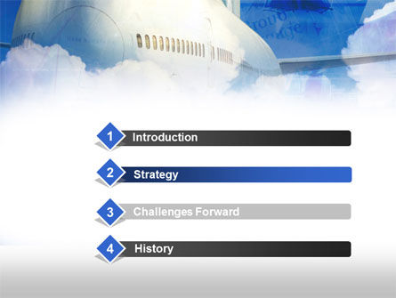 Large Aircraft PowerPoint Template, Slide 3, 00468, Cars and Transportation — PoweredTemplate.com
