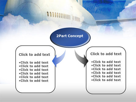 Large Aircraft PowerPoint Template, Slide 4, 00468, Cars and Transportation — PoweredTemplate.com
