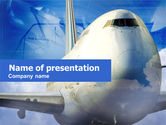 Cars and Transportation: Large Aircraft PowerPoint Template #00468