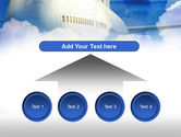 Large Aircraft PowerPoint Template#8